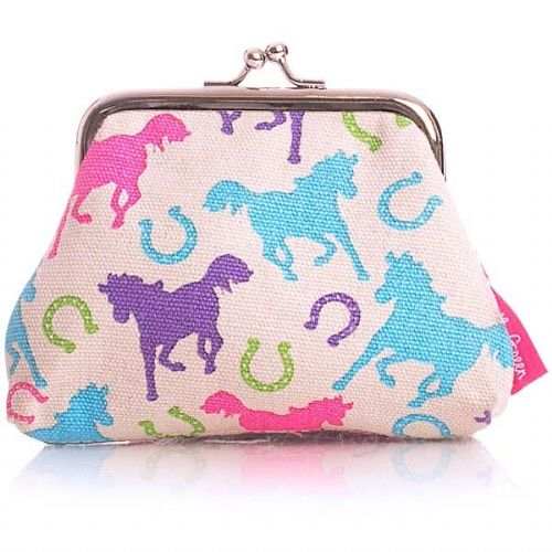 Milly Green Ponies Canvas Coin Purse